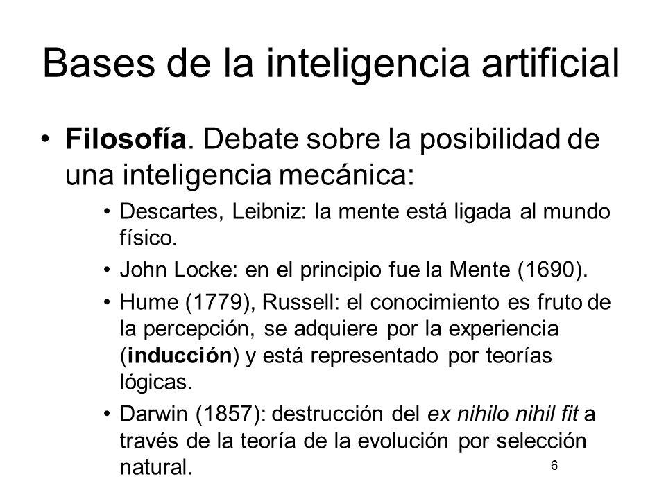 Bases de la inteligencia artificial Matemáticas.