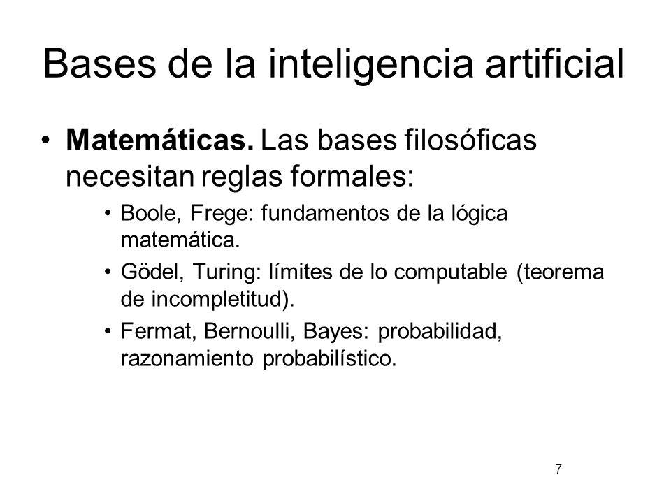 Bases de la inteligencia artificial Psicología cognitiva.
