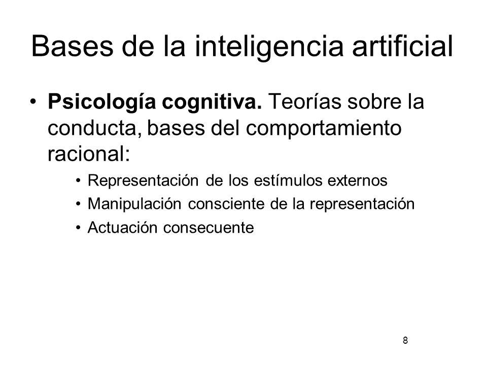 Bases de la inteligencia artificial Ingeniería computacional: Para la existencia de la IA es necesario un mecanismo para soportarlo (hardware).