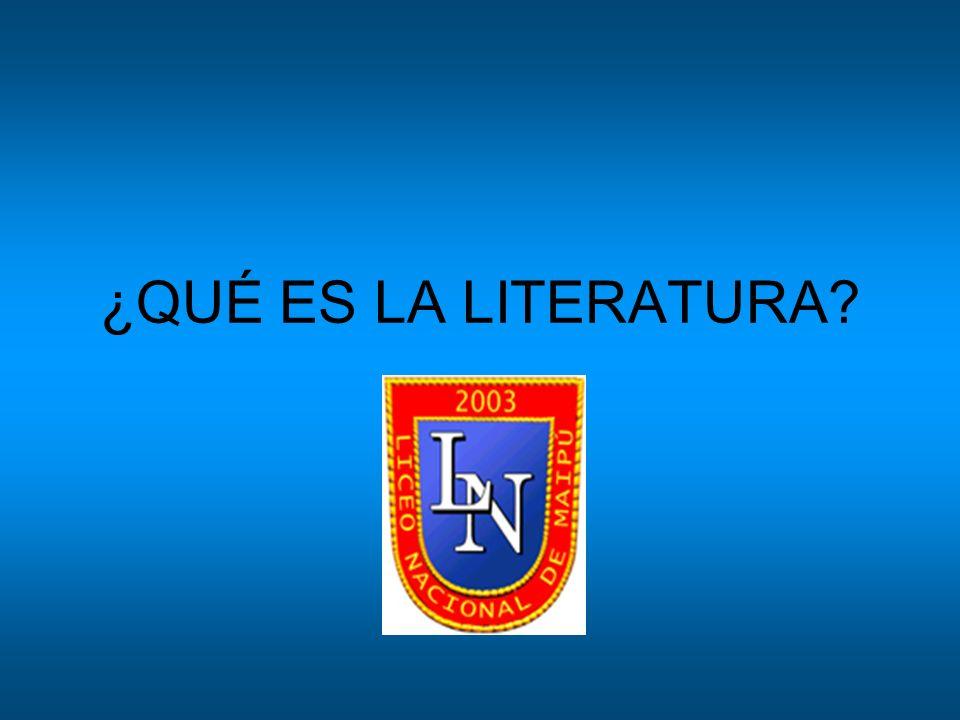 Según la RAE: (Del lat.litteratūra). 1. f. Arte que emplea como medio de expresión una lengua.