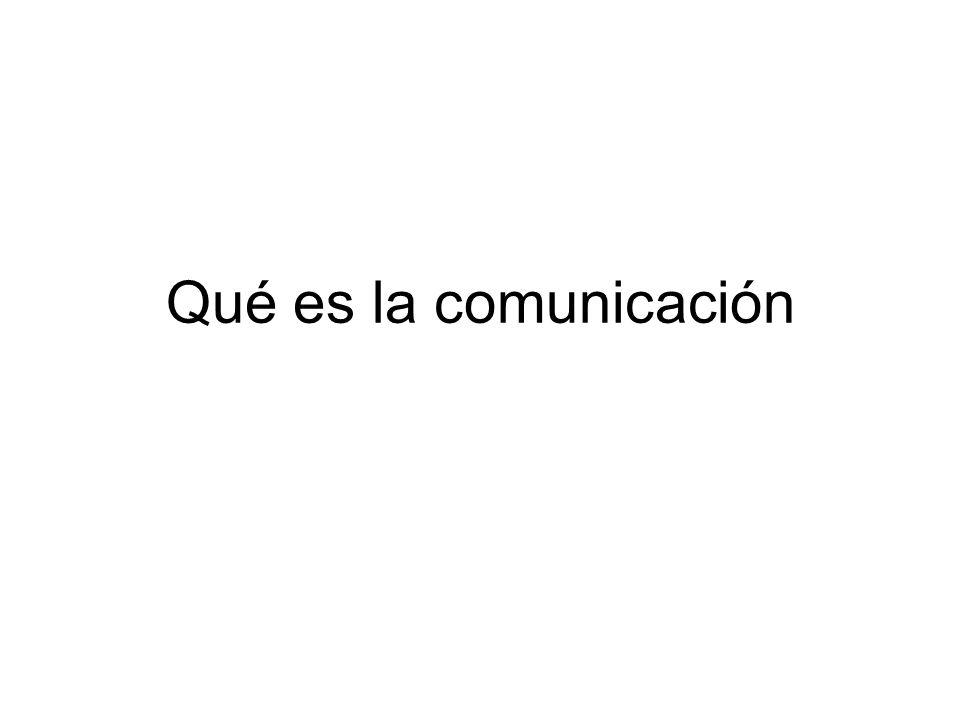 Comunicación Modo de acción.