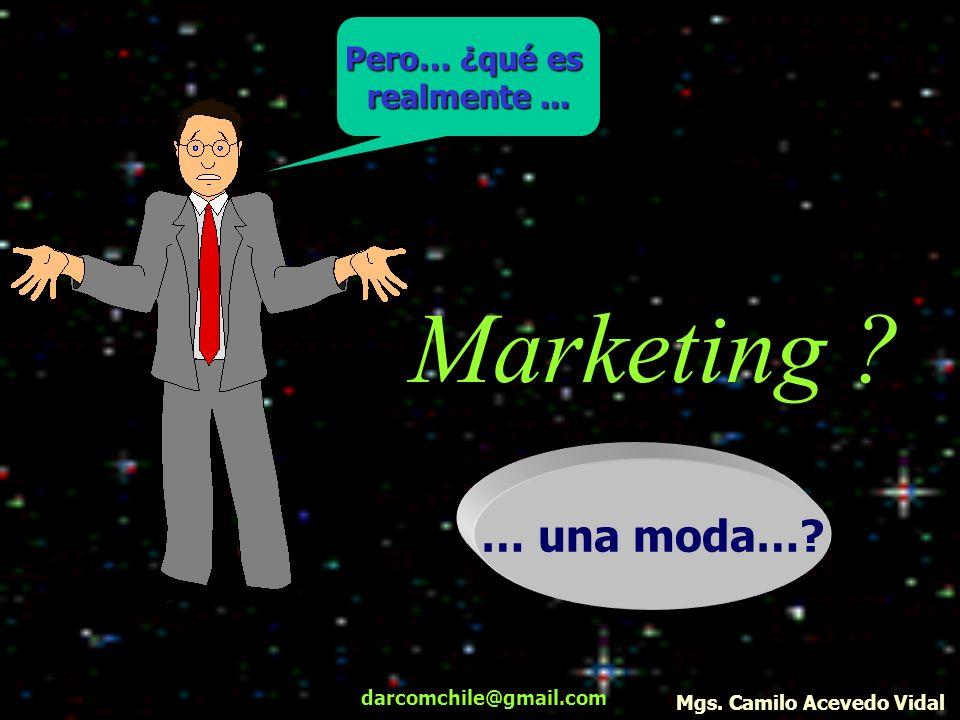 darcomchile@gmail.com Marketing ? Pero… ¿qué es realmente... … una moda…? Mgs. Camilo Acevedo Vidal