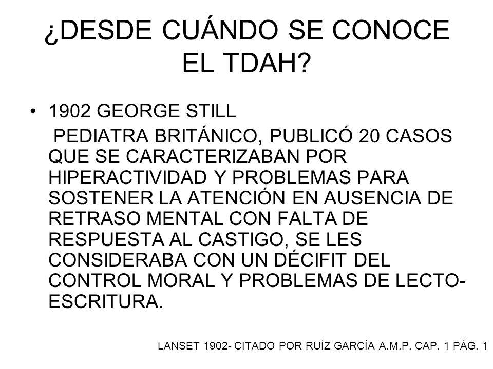 ¿QUÉ FRECUENCIA TIENE EL TDAH EN MÉXICO.