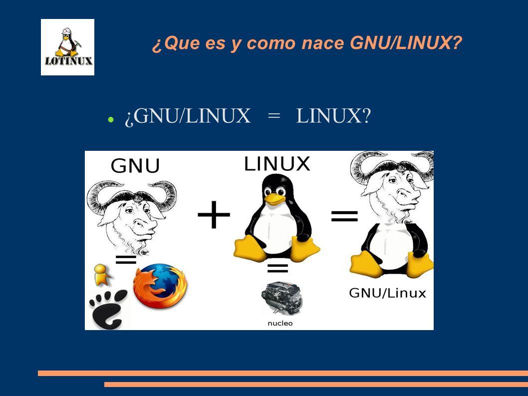 ¿GNU/LINUX = LINUX? ¿Que es y como nace GNU/LINUX?