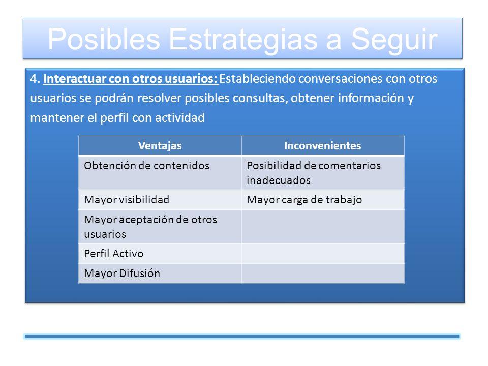 4. Interactuar con otros usuarios: Estableciendo conversaciones con otros usuarios se podrán resolver posibles consultas, obtener información y manten