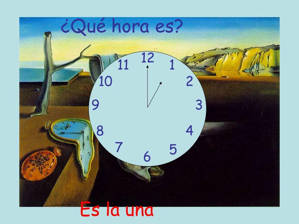 ¿Qué hora es? 12 6 93 8 7 1 2 5 4 10 11 Es la una