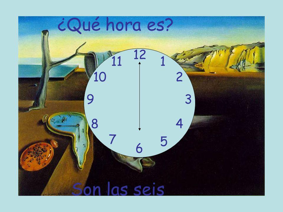 ¿Qué hora es? 12 6 93 8 7 1 2 5 4 10 11 Son las seis
