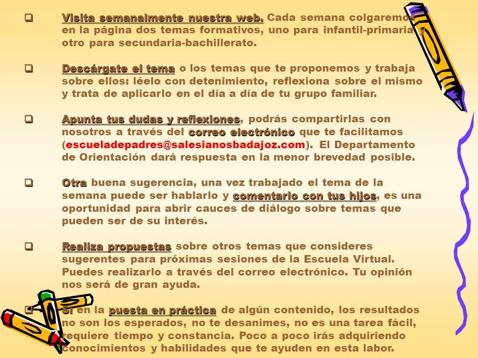 4.Temas formativos e informativosSemanas INFANTIL – PRIMARIA ESO - BACHILLERATO 5 – 11 NOV.