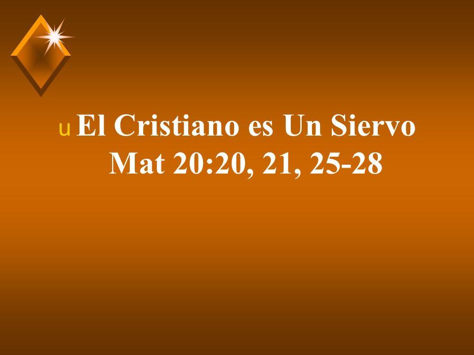 El Cristiano es un Siervo u Introducción.A.