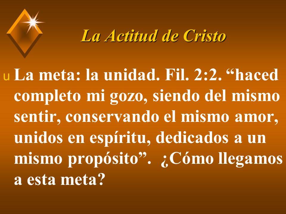 La Actitud de Cristo u V.