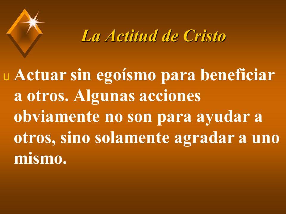 La Actitud de Cristo u Luc.9:23, Cristo requiere la abnegación de sí.