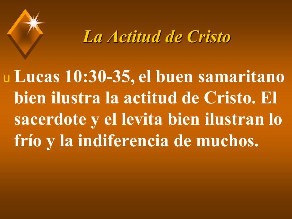 La Actitud de Cristo u Tal servicio procede no procede del egoísmo, sino de una actitud humilde, desinteresada.