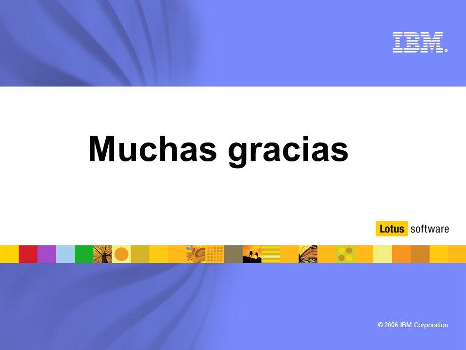 © 2006 IBM Corporation ® Muchas gracias