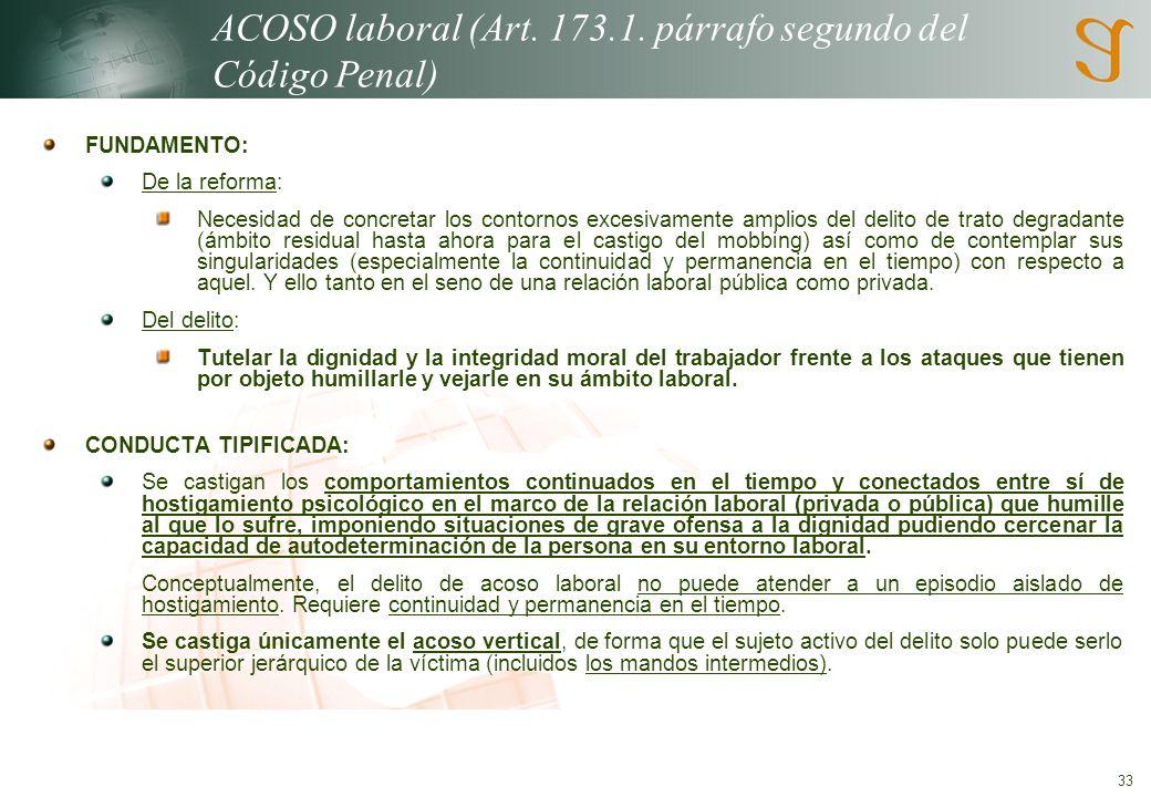 33 ACOSO laboral (Art.173.1.