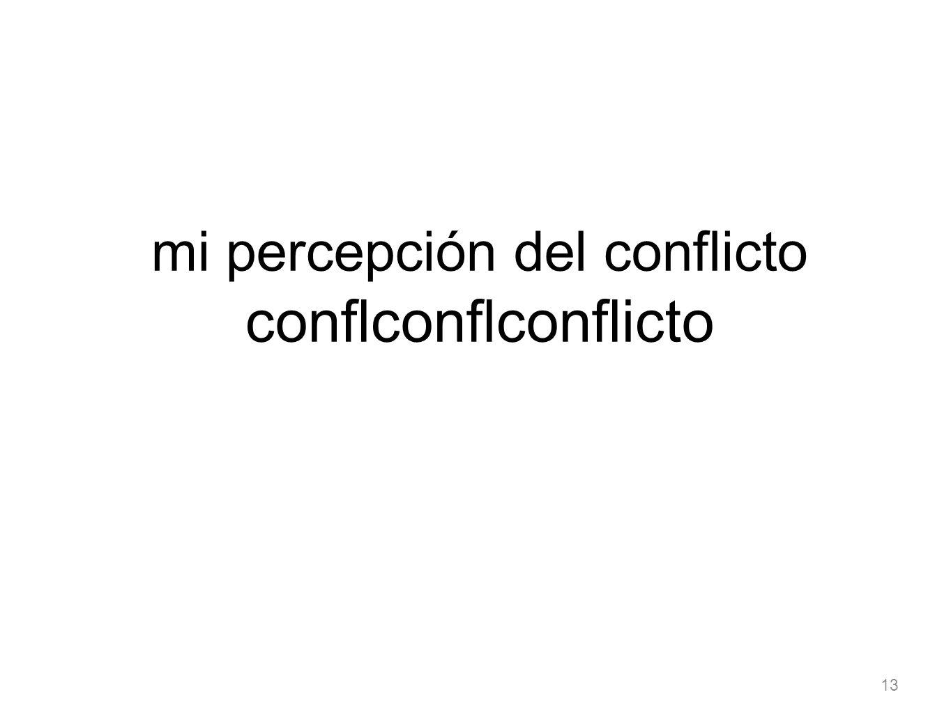 13 mi percepción del conflicto conflconflconflicto