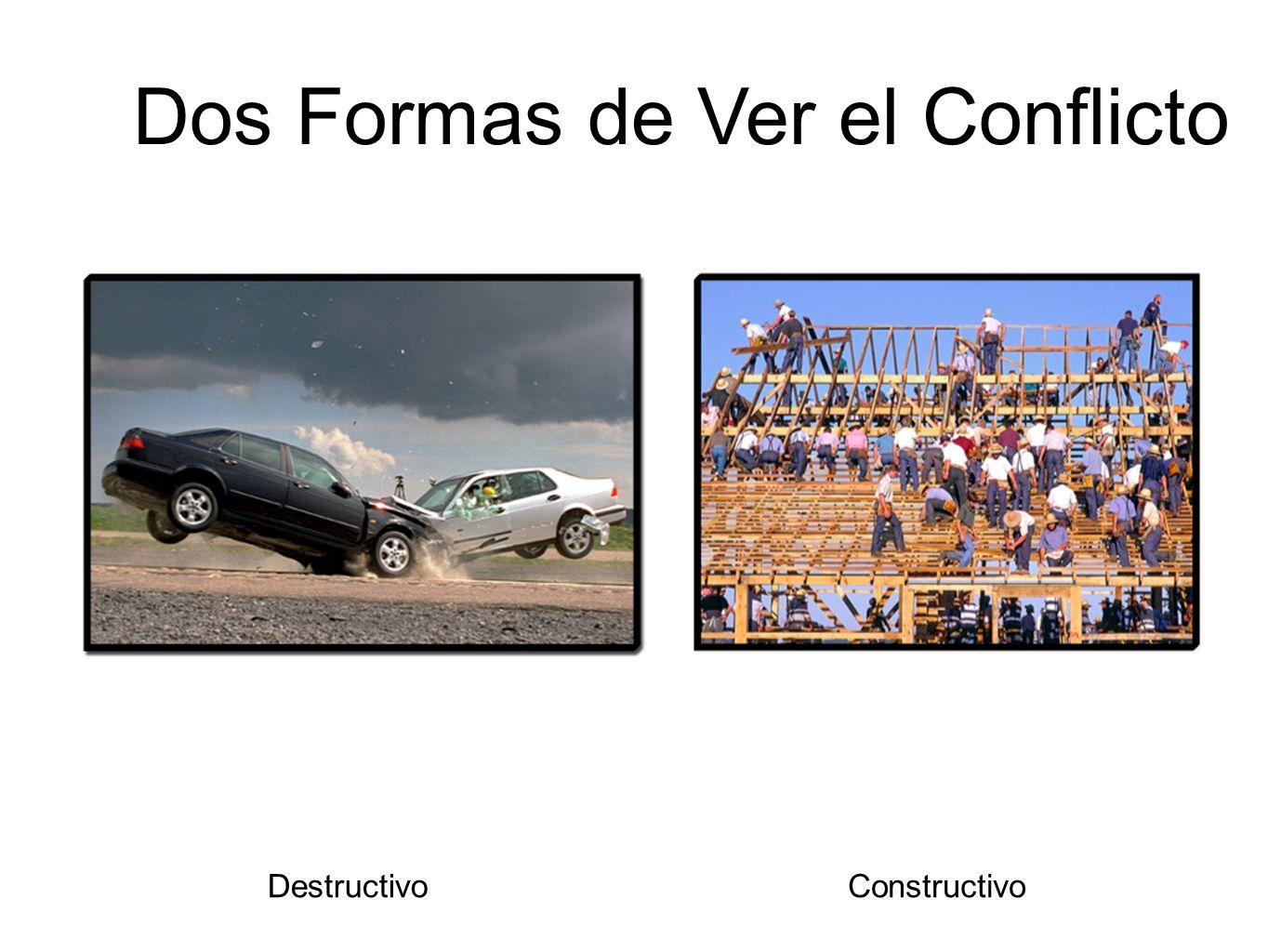 DestructivoConstructivo Dos Formas de Ver el Conflicto