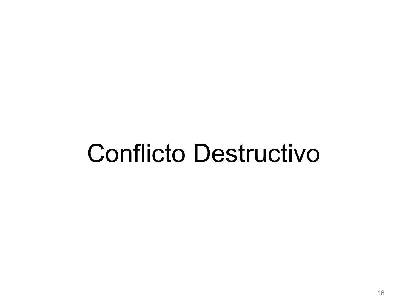 16 Conflicto Destructivo