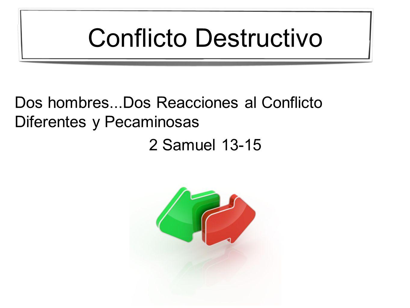 Dos hombres...Dos Reacciones al Conflicto Diferentes y Pecaminosas 2 Samuel 13-15
