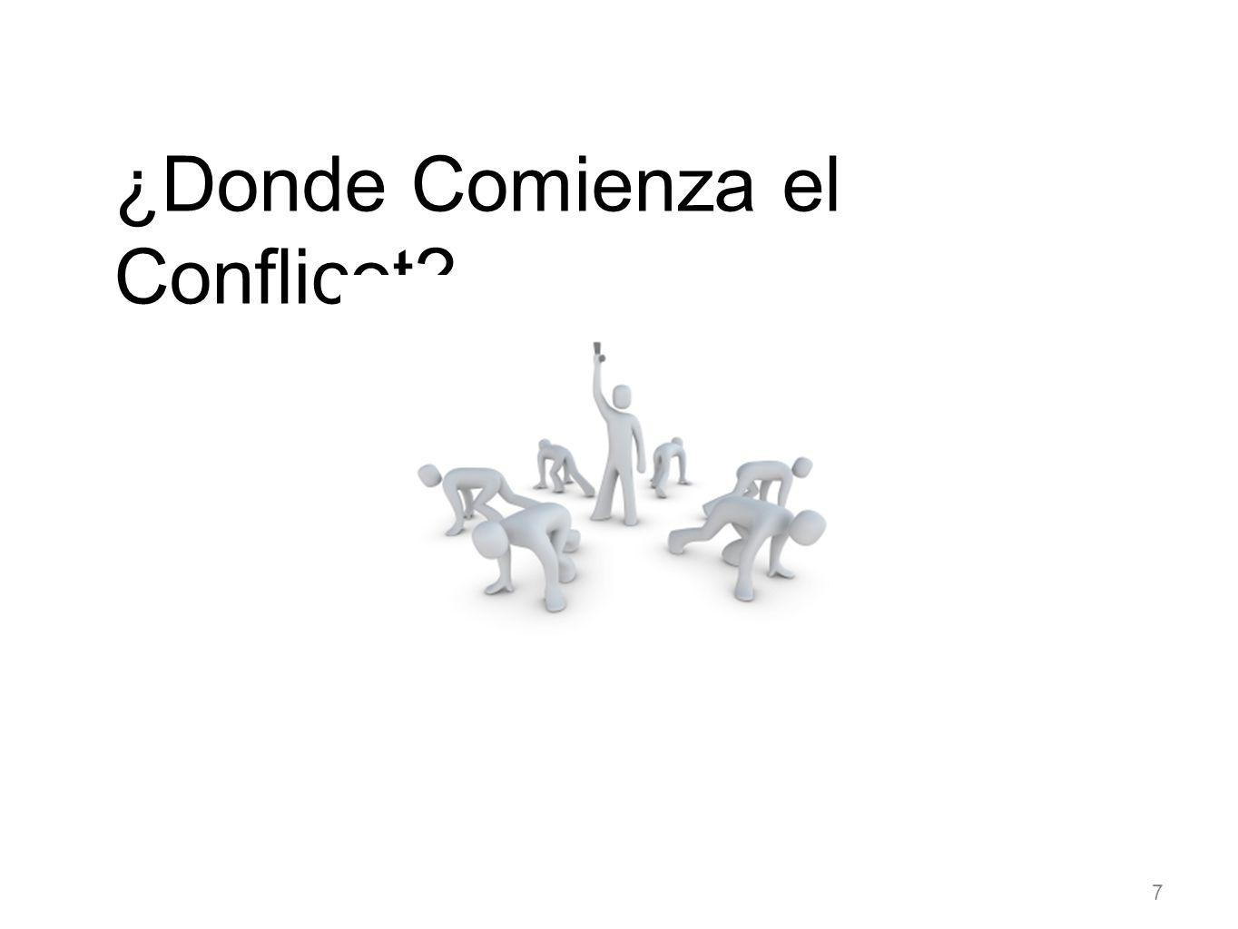 El Conflicto resulta cuando hay oposición a 1.Los valores 2.