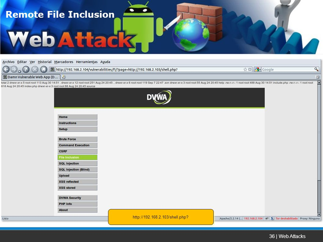 36 | Web Attacks Remote File Inclusion