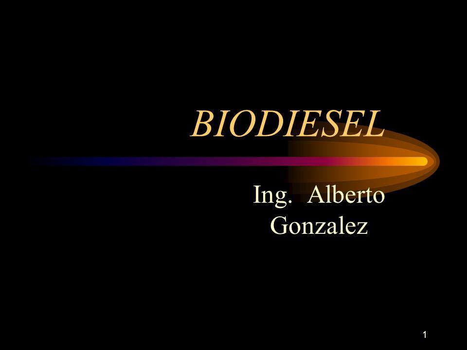 1 BIODIESEL Ing. Alberto Gonzalez