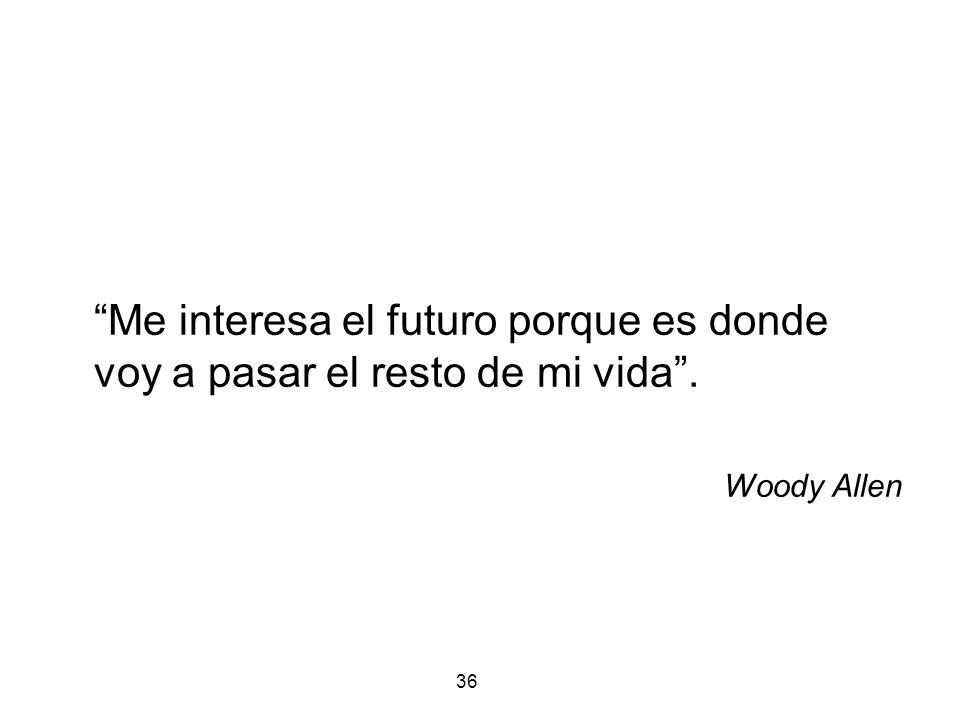 36 Me interesa el futuro porque es donde voy a pasar el resto de mi vida. Woody Allen