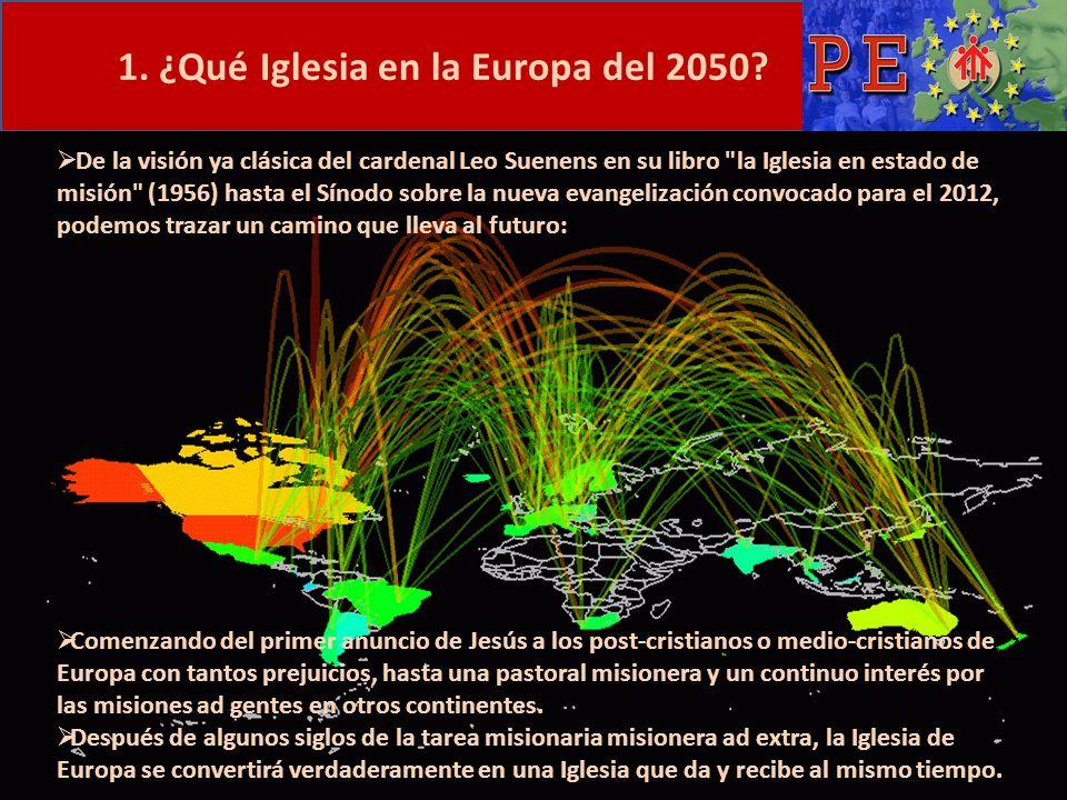 1. ¿Qué Iglesia en la Europa del 2050? De la visión ya clásica del cardenal Leo Suenens en su libro