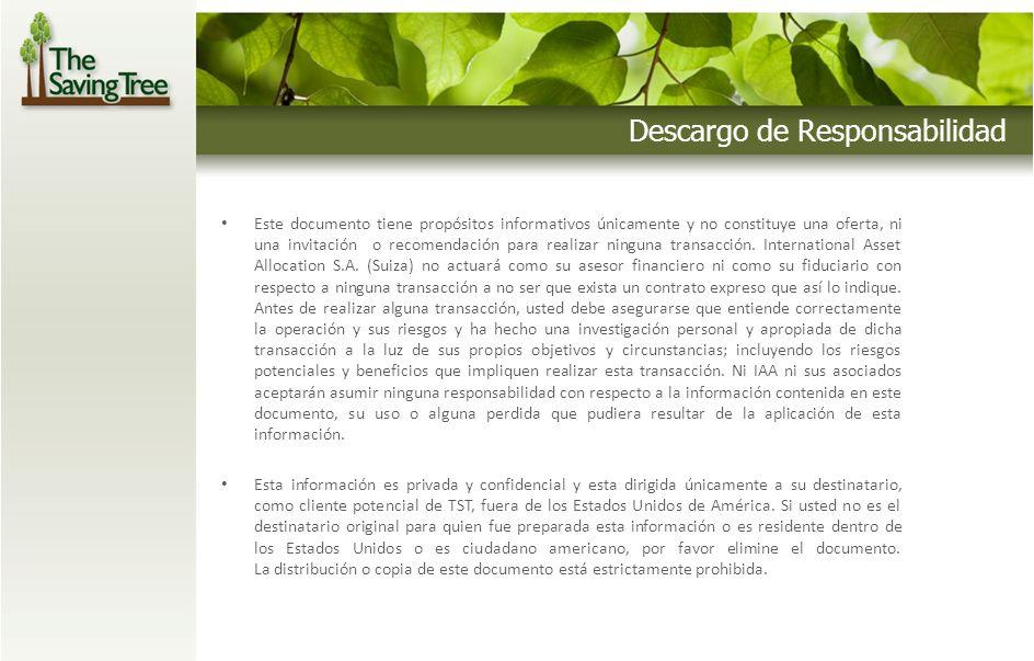 Descargo de Responsabilidad Este documento tiene propósitos informativos únicamente y no constituye una oferta, ni una invitación o recomendación para