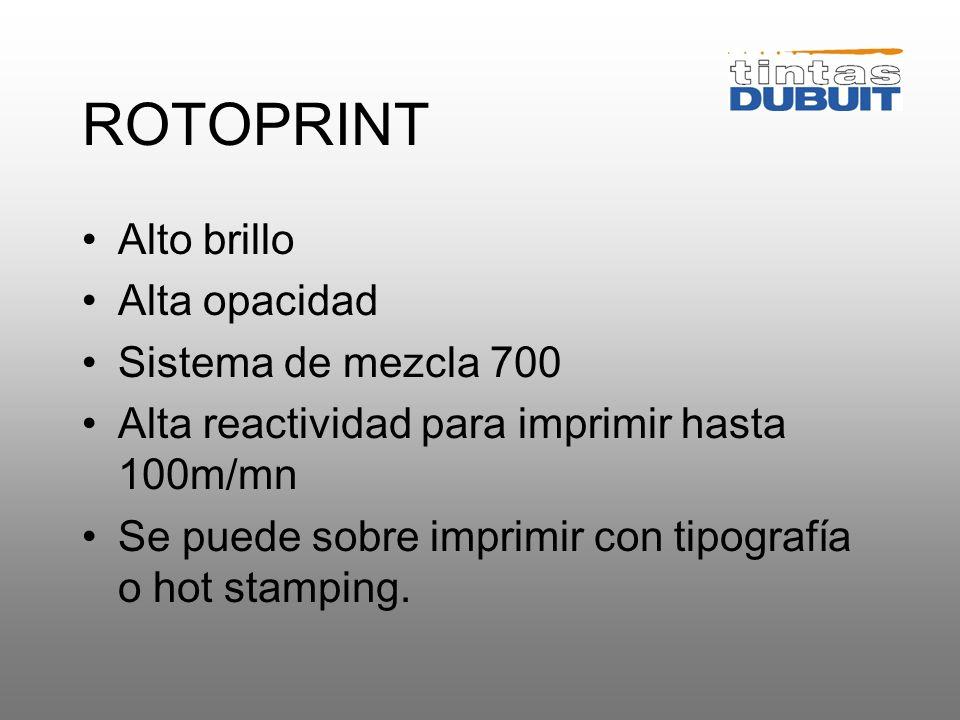 TINTAS PARA ETIQUETAS Serigrafía rotativa Rotoprint Serigrafía plana Multiprint Multimate 8 MK