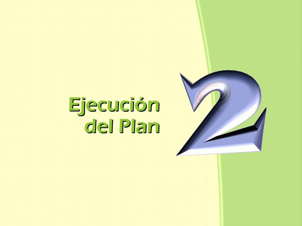 Ejecución del Plan Ejecución del Plan