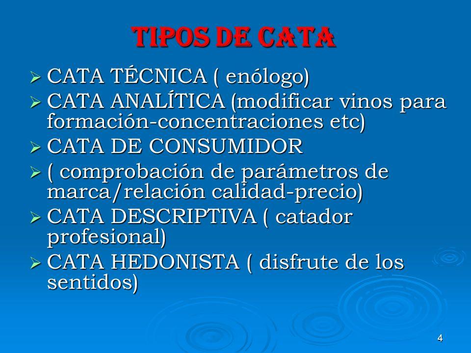 15 TECNICA DE CATA.