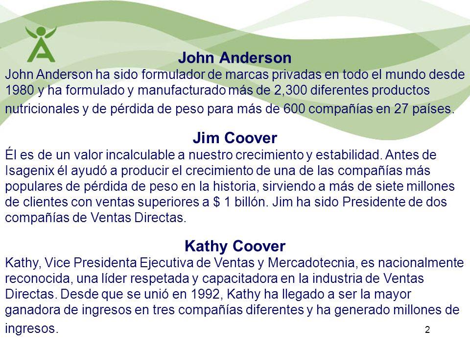 2 John Anderson John Anderson ha sido formulador de marcas privadas en todo el mundo desde 1980 y ha formulado y manufacturado más de 2,300 diferentes