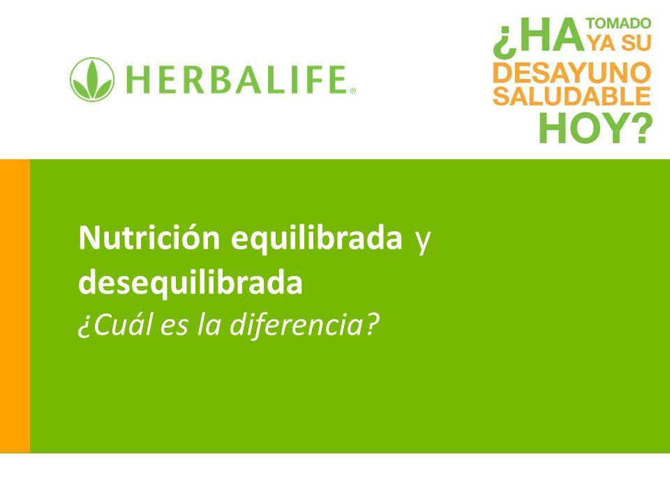 Nutrición equilibrada y desequilibrada ¿Cuál es la diferencia?