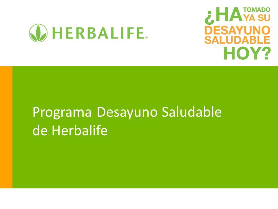 Programa Desayuno Saludable de Herbalife