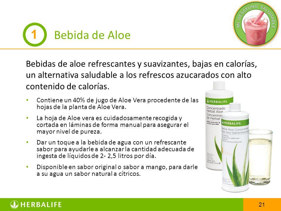 21 Bebida de Aloe Bebidas de aloe refrescantes y suavizantes, bajas en calorías, un alternativa saludable a los refrescos azucarados con alto contenid