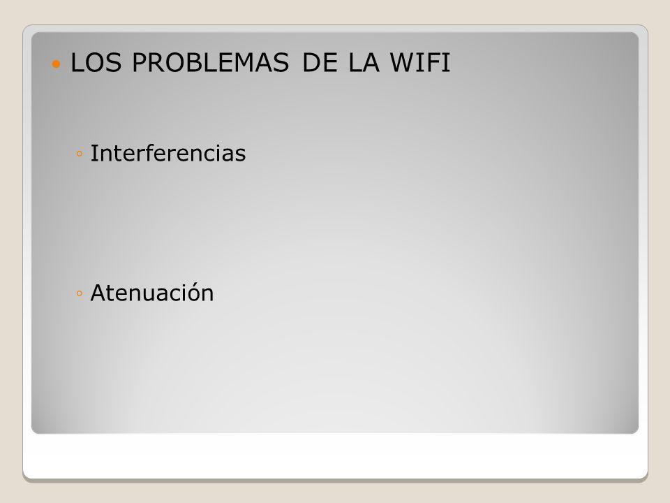 LOS PROBLEMAS DE LA WIFI Interferencias Atenuación