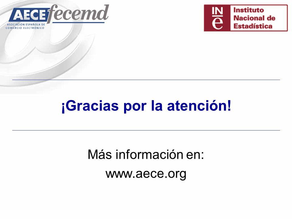 ¡Gracias por la atención! Más información en: www.aece.org