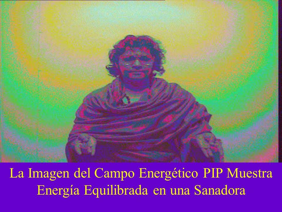 La Imagen del Campo Energético PIP Muestra Energía Equilibrada en una Sanadora