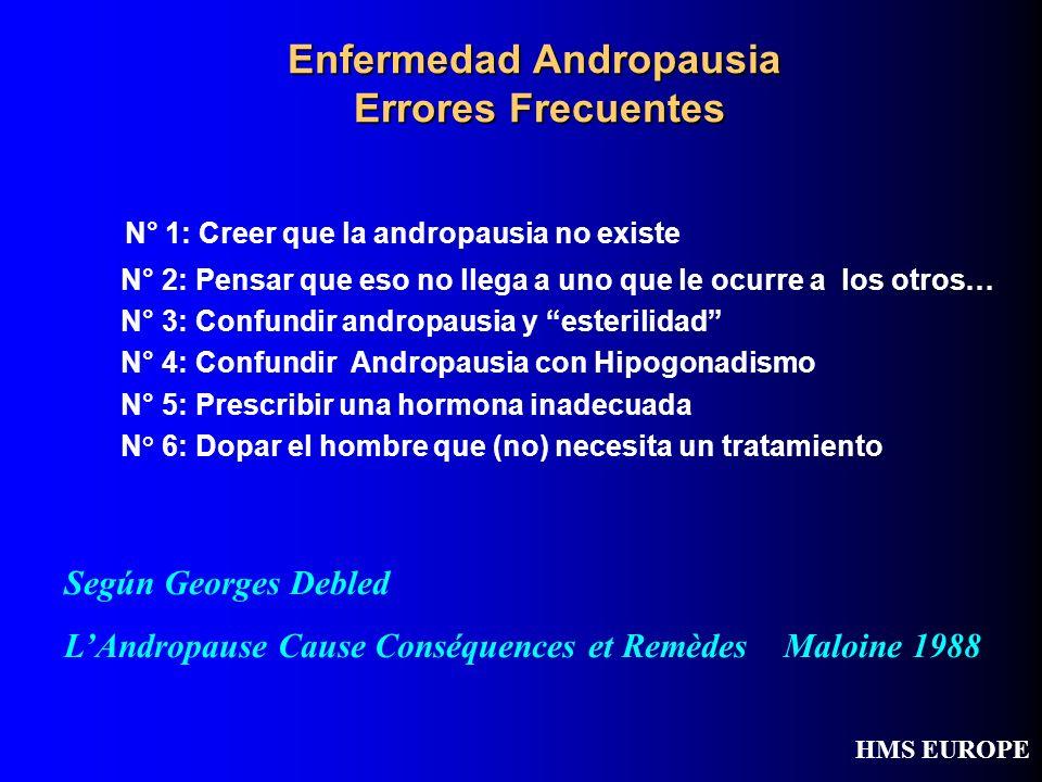 Enfermedad Andropausia Errores Frecuentes N° 1: Creer que la andropausia no existe N° 2: Pensar que eso no llega a uno que le ocurre a los otros… N° 3