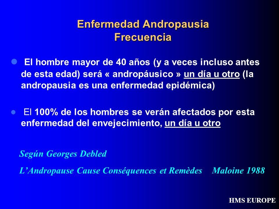 Enfermedad Andropausia Frecuencia El hombre mayor de 40 años (y a veces incluso antes de esta edad) será « andropáusico » un día u otro (la andropausi