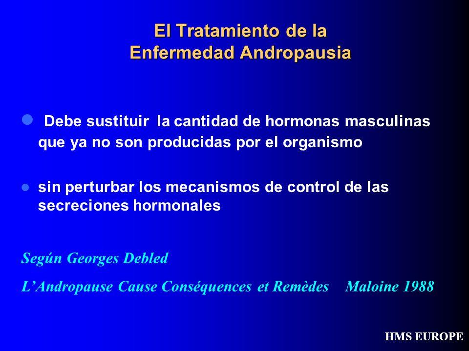 El Tratamiento de la Enfermedad Andropausia Debe sustituir la cantidad de hormonas masculinas que ya no son producidas por el organismo sin perturbar