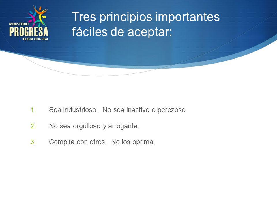 Varios Principios Personales Prácticos: 1.