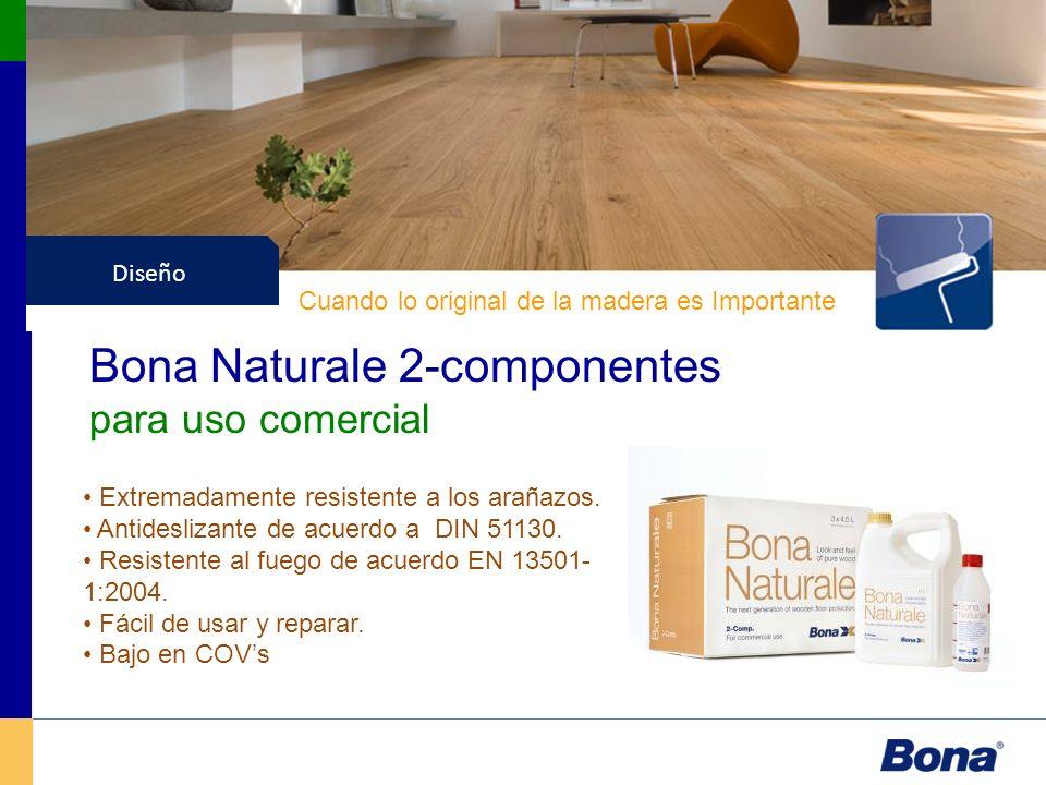Barnices Diseño Bona Naturale 2-componentes para uso comercial Cuando lo original de la madera es Importante Extremadamente resistente a los arañazos.