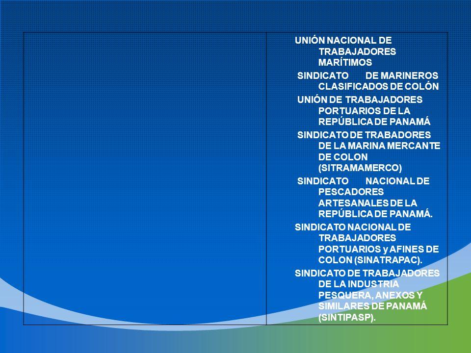 UNIÓN NACIONAL DE TRABAJADORES MARÍTIMOS SINDICATODE MARINEROS CLASIFICADOS DE COLÓN UNIÓN DE TRABAJADORES PORTUARIOS DE LA REPÚBLICA DE PANAMÁ SINDIC