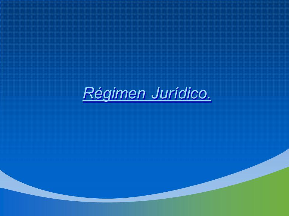 Régimen Jurídico.