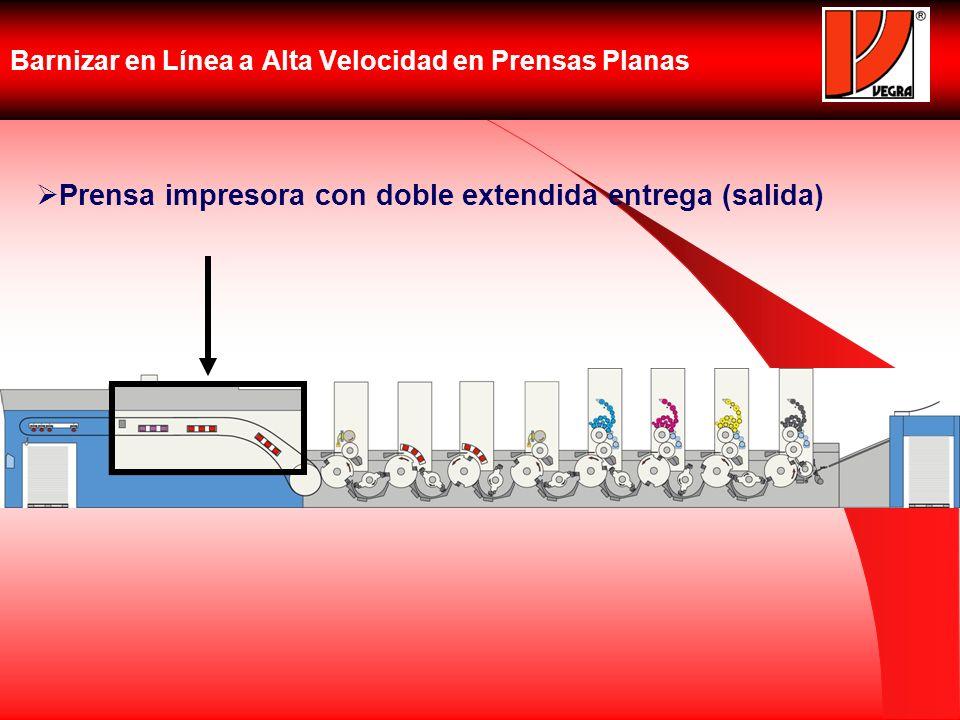Barnizar en Línea a Alta Velocidad en Prensas Planas Prensa impresora con doble extendida entrega (salida)