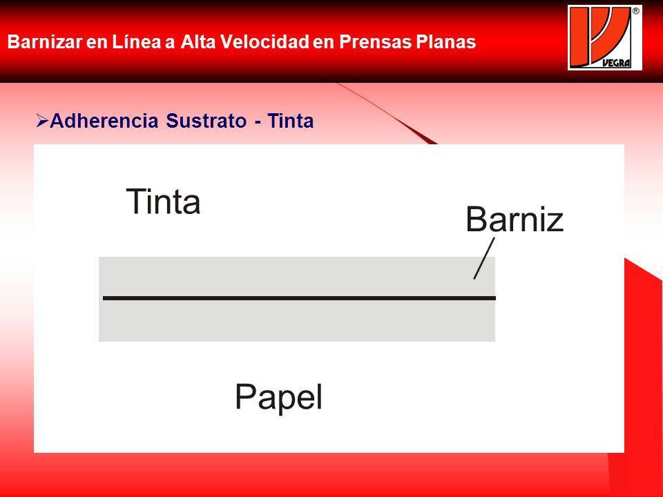Barnizar en Línea a Alta Velocidad en Prensas Planas Papel Tinta Barniz Adherencia Sustrato - Tinta