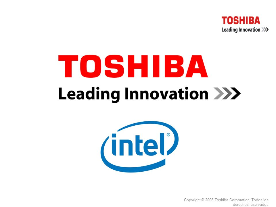 Copyright © 2008 Toshiba Corporation. Todos los derechos reservados