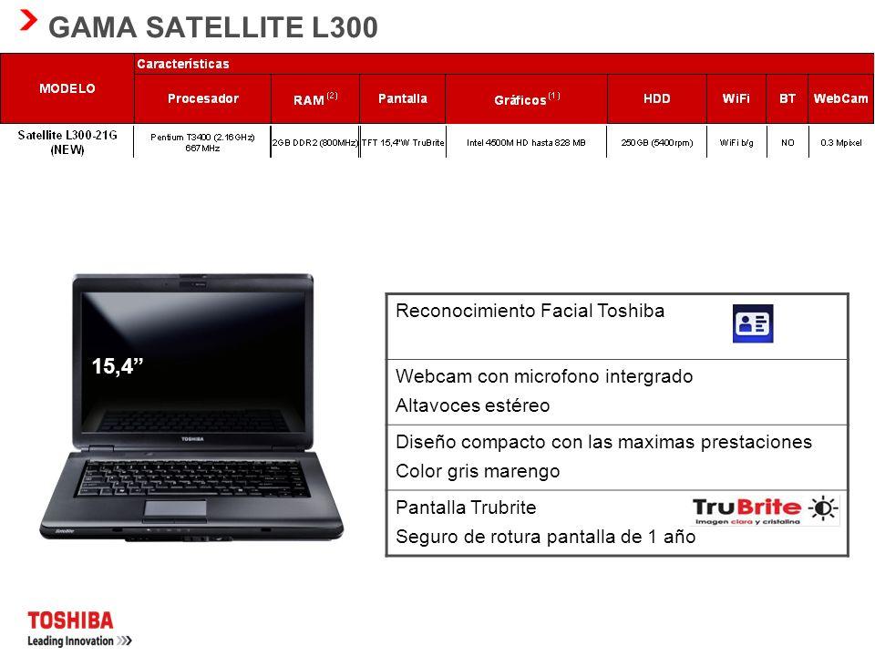 GAMA TOSHIBA NB100 8.9 LED Webcam con microfono integrado. Altavoces estéreo Diseño compacto con las maximas prestaciones 1kg de peso sin lector DVD P