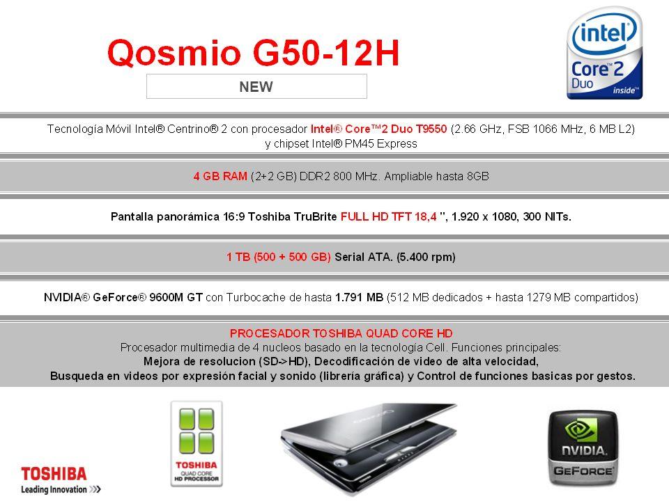 ESTRATEGIA DE SEGMENTO DE ENTRETENIMIENTO DE INIGUALABLE CALIDAD DE TOSHIBA Con el nuevo Qosmio G50, Toshiba ofrecerá una plataforma para clientes de